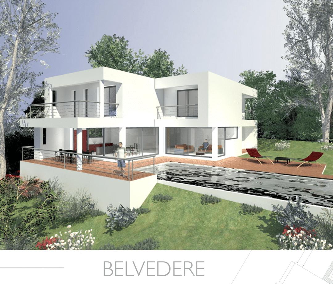 Constructeur maison moderne en paca provence architecture for Constructeur maison contemporaine