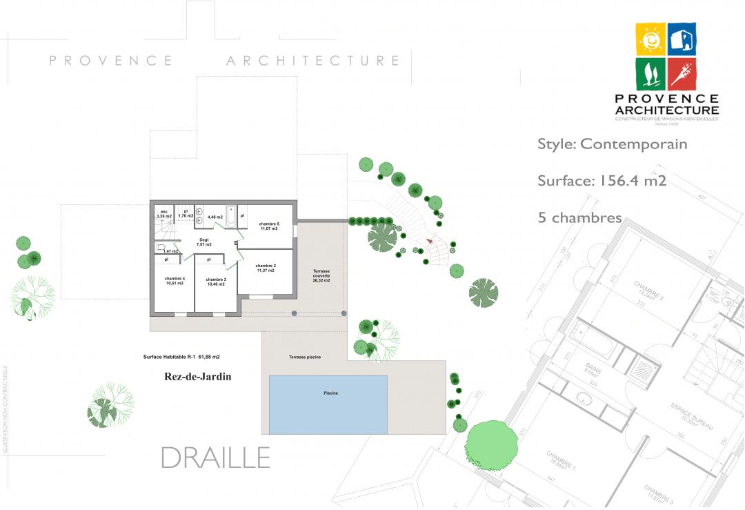 Maison contemporaine plan de draille 12