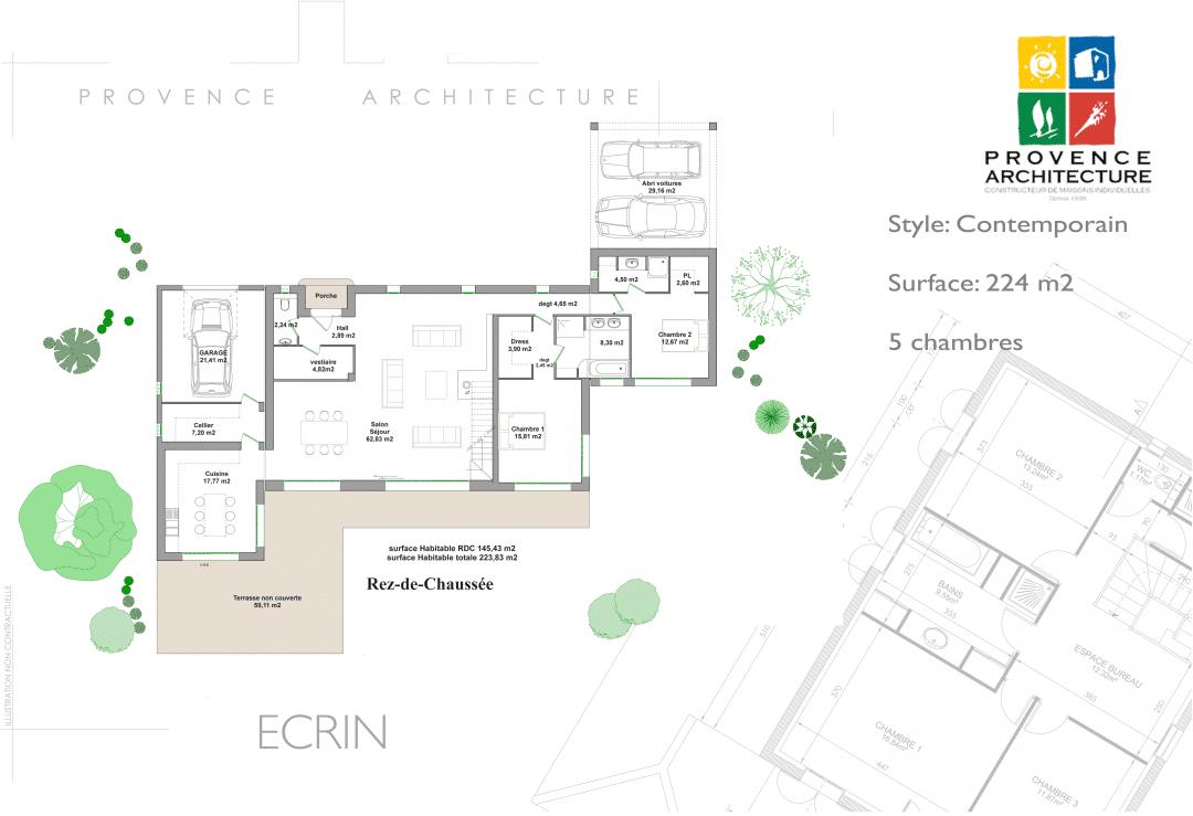 constructeur maison moderne en paca provence architecture. Black Bedroom Furniture Sets. Home Design Ideas