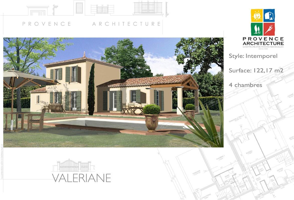 Elegant valerianne plan with modele maison provencale - Plan de maison provencale ...