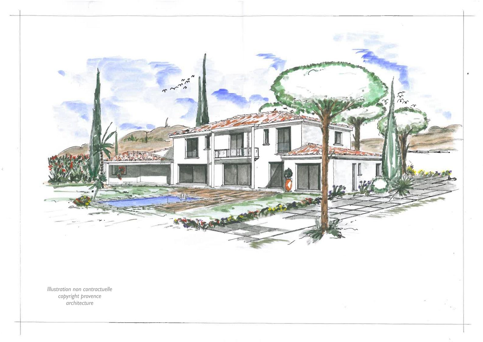Constructeur maison individuelle bouches du rh ne marseille 13 for Esquisse architecture